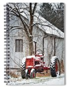 Farmall Tractor In Winter Spiral Notebook