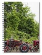 Farmall Tractors All In A Row Spiral Notebook