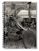 Farmer And His Tractor Spiral Notebook