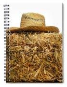 Farmer Hat On Hay Bale Spiral Notebook