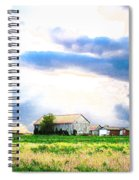 Farmer's Field At Sundown Spiral Notebook