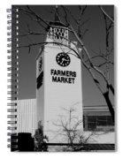 Farmers Market Bw Spiral Notebook