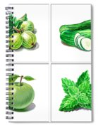 Farmers Market Gifts Green Vitamins Spiral Notebook