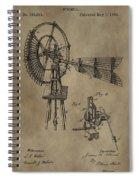 Farmer's Windmill Spiral Notebook