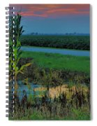 Farm Sunset Spiral Notebook
