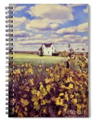 Farmhouse And Grapevines Spiral Notebook