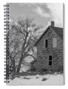 Farmhouse Black And White Spiral Notebook