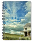 Farmhouse By Cornfield Spiral Notebook