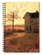 Farmhouse By Tree Spiral Notebook