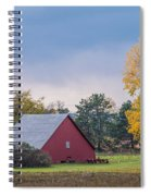 Farmstead With Fall Colors Spiral Notebook