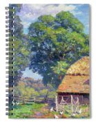 Farmyard With Poultry Spiral Notebook