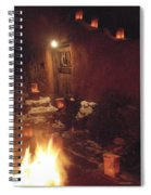 Farolitos And Luminaria Near Door Spiral Notebook