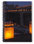 Farolitos Or Luminaria On Wall Spiral Notebook