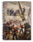 Farragut On The Hartford At Mobile Bay Spiral Notebook