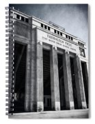 Farrington Field Facade Bw Spiral Notebook