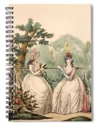 Fashion Plate Of Ladies In Summer Day Spiral Notebook