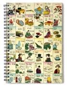 Fashionable Melange Of English Words Spiral Notebook