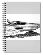 Fast Riva Motoryacht Spiral Notebook