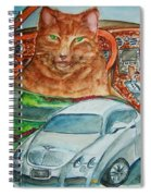 Fat Cat And The Bentley Spiral Notebook