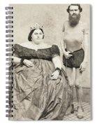 Fat Lady & Thin Man Spiral Notebook
