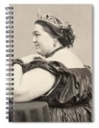 Fat Lady, 19th Century Spiral Notebook
