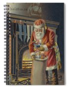 Father Christmas Filling Children's Stockings Spiral Notebook
