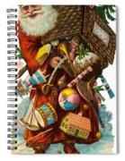 Father Christmas With Presents Spiral Notebook
