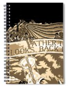 Father Time Looks Back Spiral Notebook