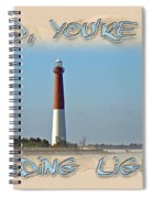 Father's Day Greetingcard - Guiding Light Spiral Notebook