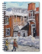 Faubourg A Melasse Montreal - Joys Of Winter By Prankearts Spiral Notebook