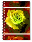Fauvism Roses Triptych Spiral Notebook