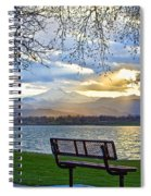 Favorite Bench And Lake View Spiral Notebook