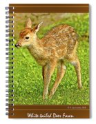 Fawn Poster Image Spiral Notebook