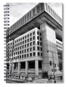 Fbi Building Rear View Spiral Notebook