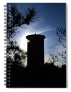 Fct1 Fire Control Tower 1 In Silhouette Spiral Notebook