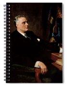 Fdr Official Portrait  Spiral Notebook