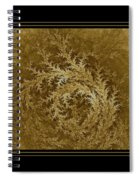 Fear Of The Forest-2 Framed Black And Gold Spiral Notebook