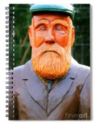Fear The Beard Golfer Spiral Notebook