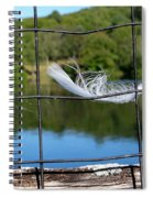 Feather And Fence Spiral Notebook