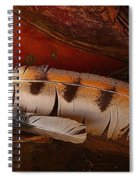 Feather And Leather Spiral Notebook