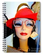 Feather In Her Cap Spiral Notebook