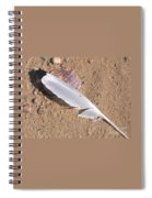 Feather On Damp Sand Spiral Notebook