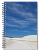 Feathery Clouds Over White Sands Spiral Notebook