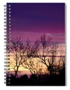 February's Dramatic Sunrise Spiral Notebook