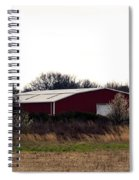 February's Red Barn Spiral Notebook