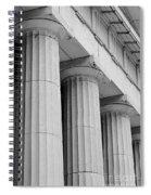 Federal Hall Columns Spiral Notebook