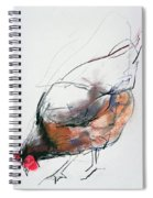 Feeding Hen, Trasierra Spiral Notebook