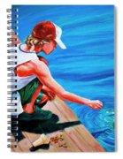 Feeding Koi Spiral Notebook
