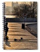 Feeding The Birds At Dawn Spiral Notebook