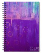 Feeling Purple Abstract Spiral Notebook
